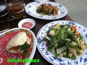 bao bun dumpling vegies