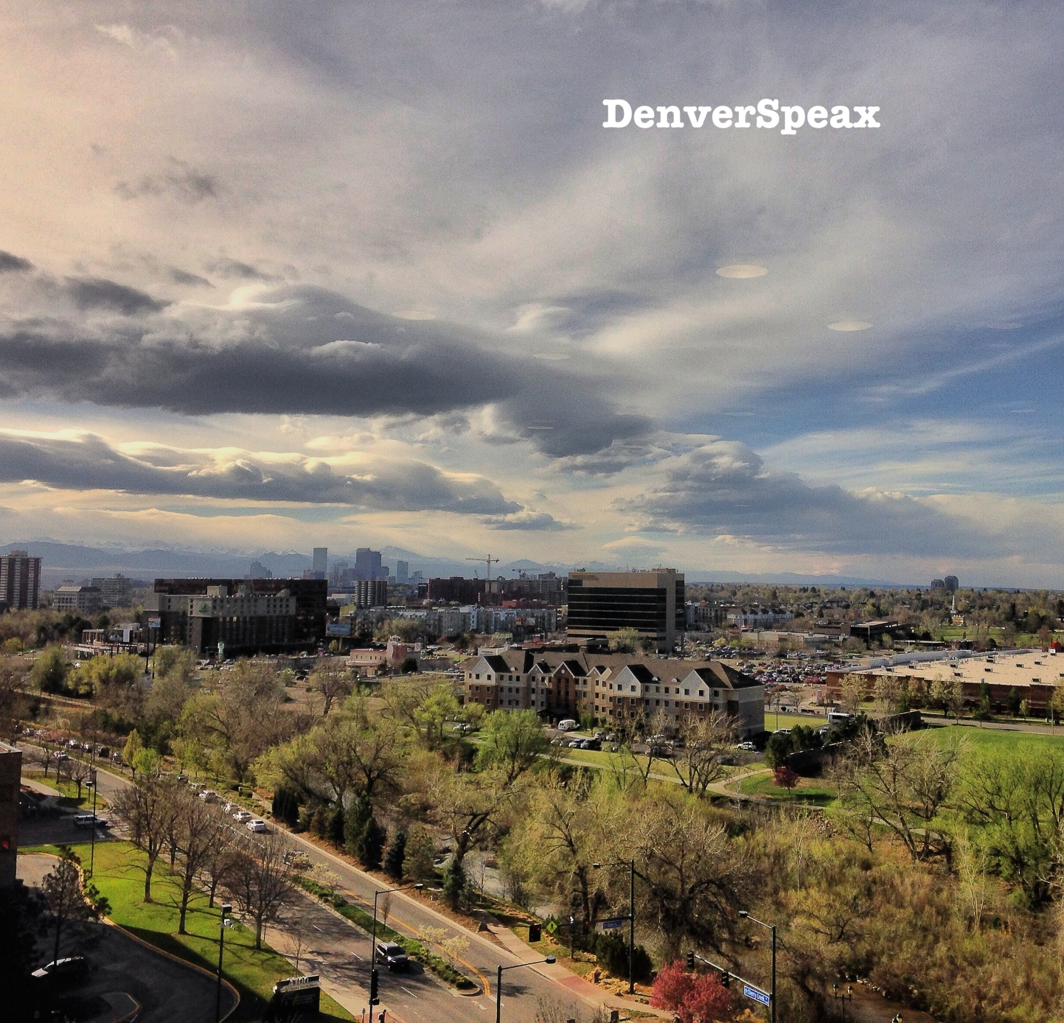 View from Cherry Creek in Denver, CO