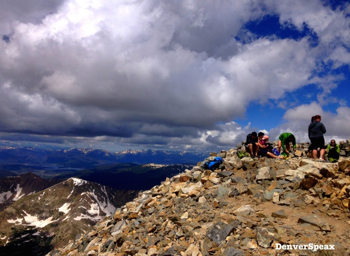 Rockpile at the top